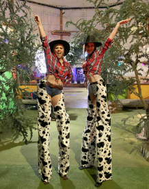 Cowgirl Stilt Walkers